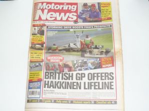 MOTORING NEWS 1997 July 16 British GP , F3, BRDC GT, CART, Jim Clark Rally
